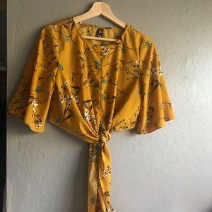 floral crop blouse